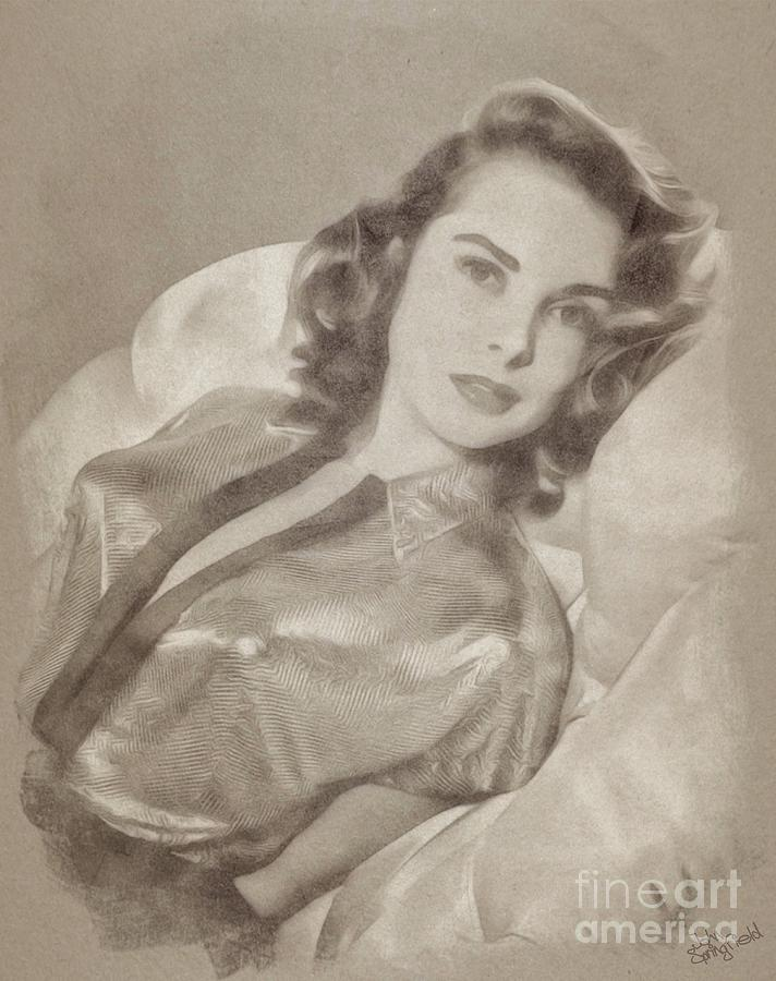 Janet Leigh, Vintage Actress Drawing