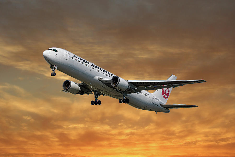 Japan Mixed Media - Japan Airlines Boeing 767-346 by Smart Aviation