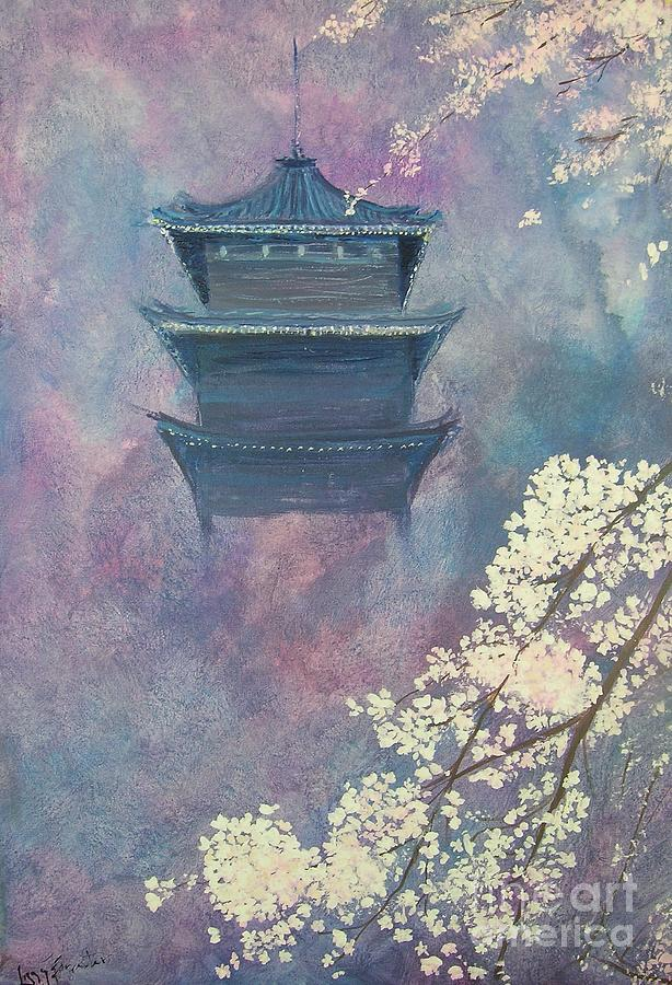 Blossom Painting - Japanese Spring Scene by Lizzy Forrester