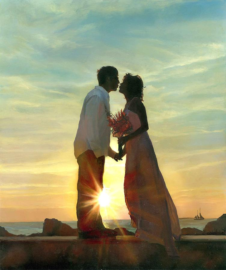 Sunset Painting - Jared N Kelly by Craig Werkheiser
