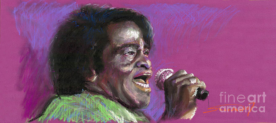 Jazz Painting - Jazz. James Brown. by Yuriy  Shevchuk