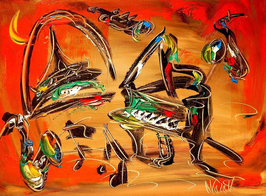 New York Painting - Jazz by Mark Kazav