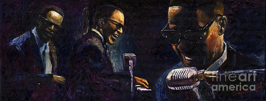 Jazz Painting - Jazz Ray Charles by Yuriy Shevchuk