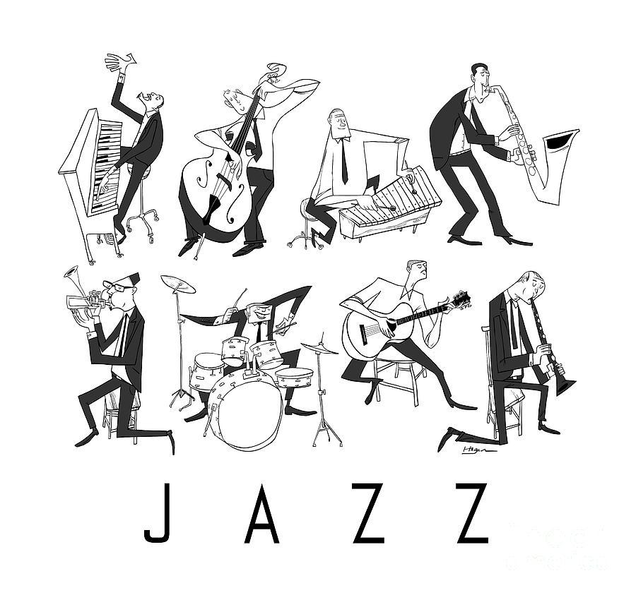 Piano Digital Art - Jazz by Sean Hagan