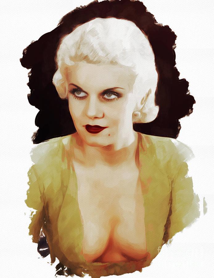 Jean Harlow, Actress Painting
