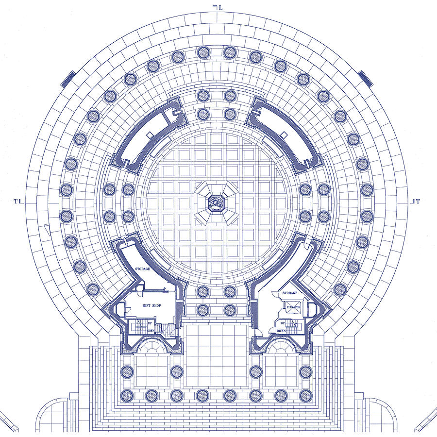 Jefferson Memorial - Ceiling Plan - Washington, Dc - Circa ...