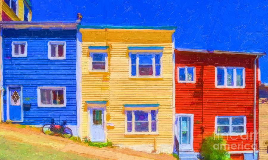 Jelly Bean Row >> Jellybean Row St Johns Newfoundland By Liz Leyden