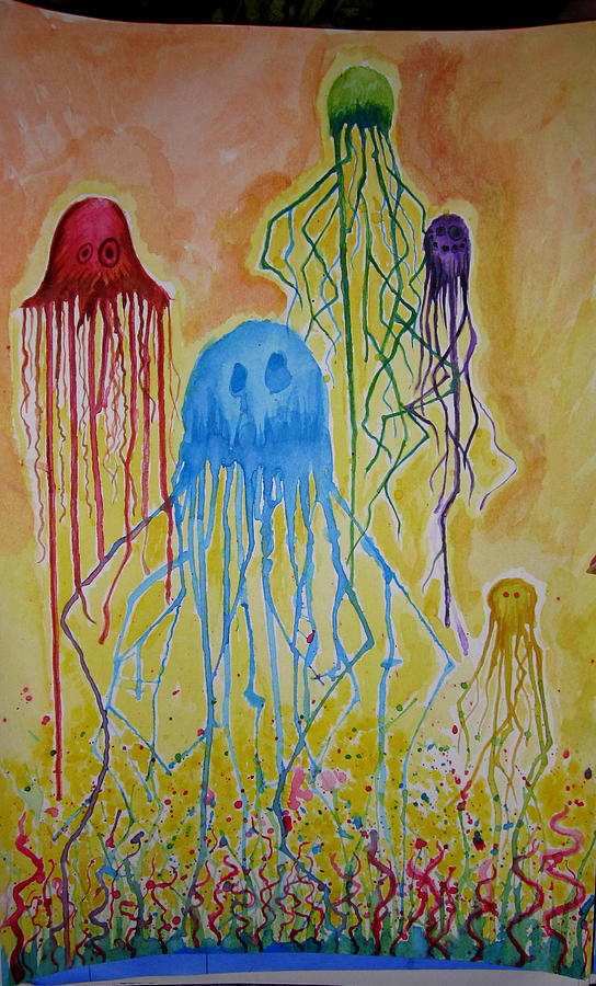 Jellyfish Painting - Jellyfish Dreams by Jeshua Gentry