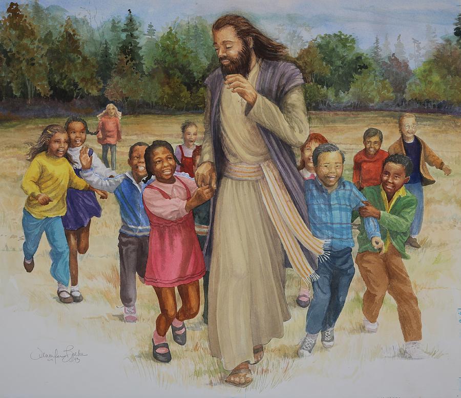 Jesus Loves the Little Children Painting by Jennifer Boeke