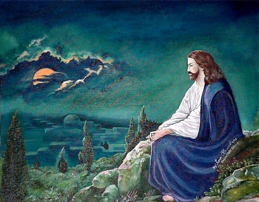 jesus praying painting by terri kilpatrick