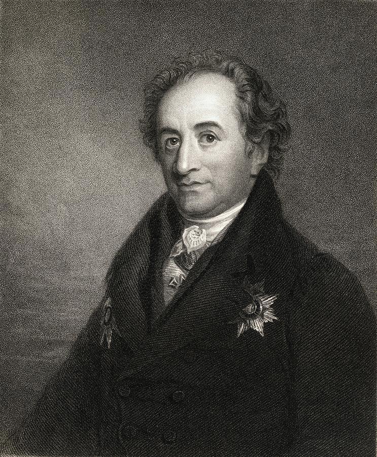 Johann Wolfgang Von Goethe 1749 1832 1 By Vintage Design Pics