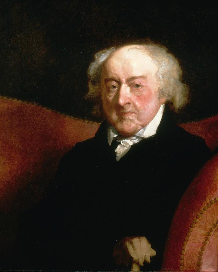 Gilbert Stuart Painting - John Adams by Gilbert Stuart