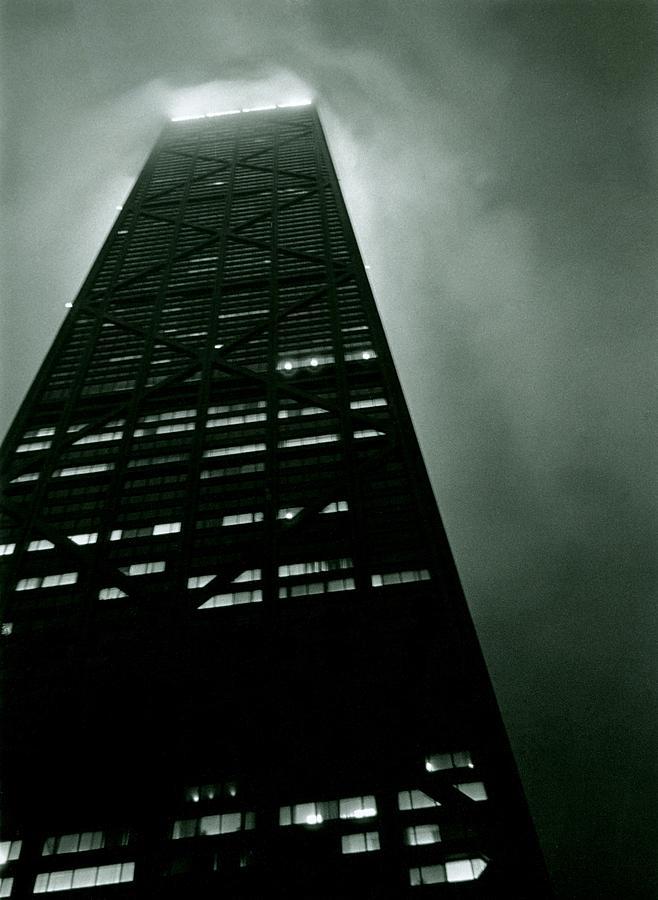 Geometric Photograph - John Hancock Building - Chicago Illinois by Michelle Calkins
