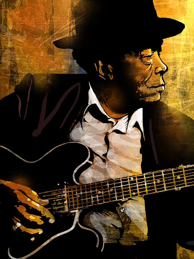 Blues Painting - John Lee Hooker by Paul Sachtleben