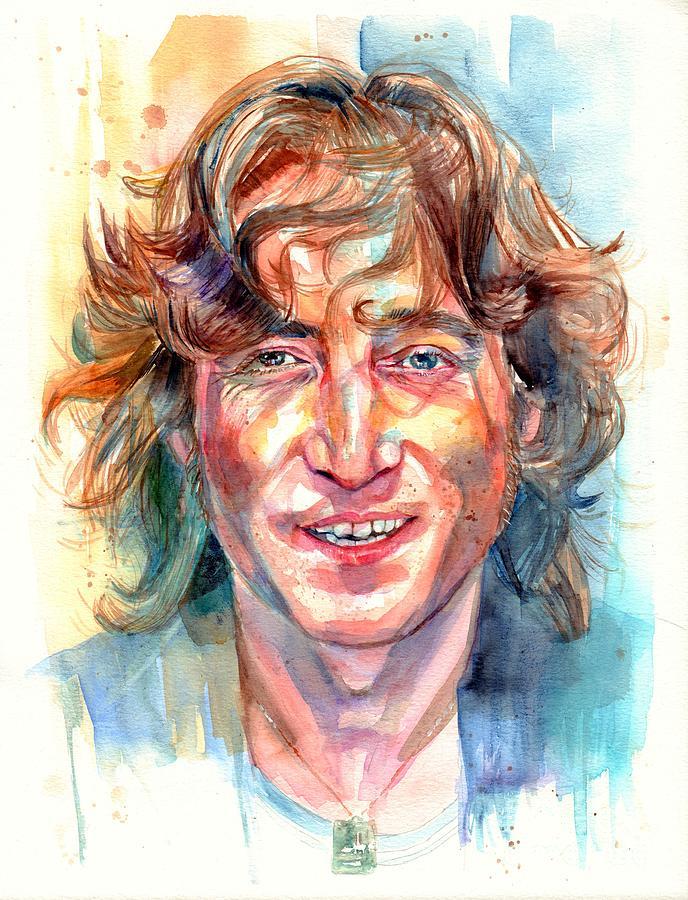John Lennon Painting - John Lennon portrait by Suzann Sines