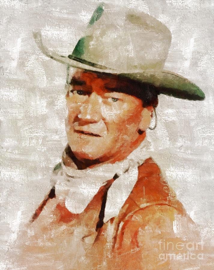 John Painting - John Wayne by Mary Bassett by Esoterica Art Agency