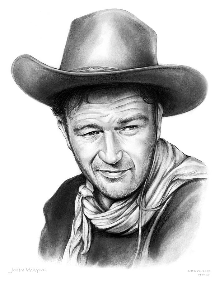 John Wayne Drawing By Greg Joens