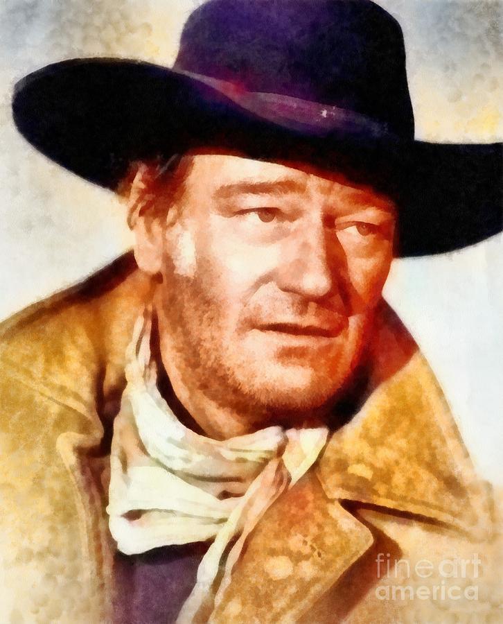 John Wayne, Vintage Hollywood Legend Painting