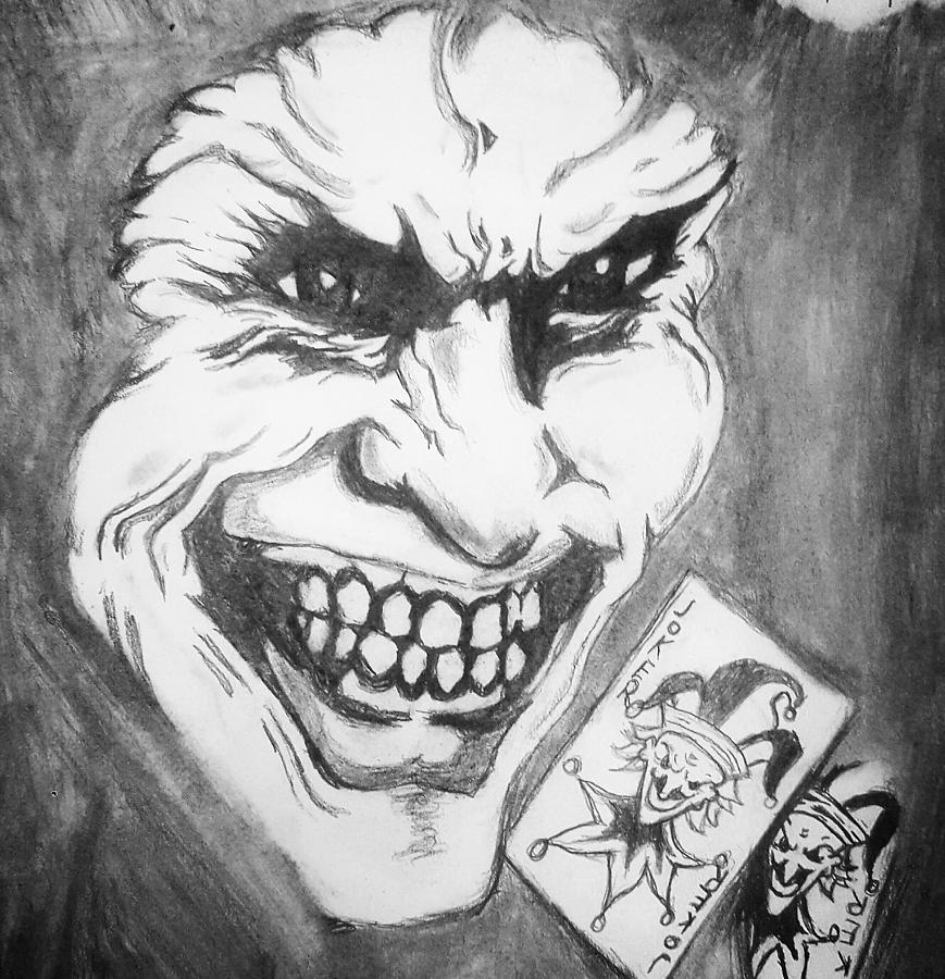 Joker Face Drawing By Ryan Williams