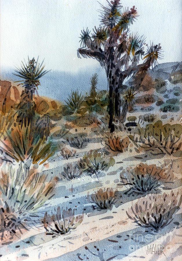 Joshua Tree Painting - Joshua Tree by Donald Maier