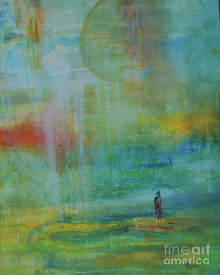 Abstract Landscape Painting - Journey 2 by Terri Davis