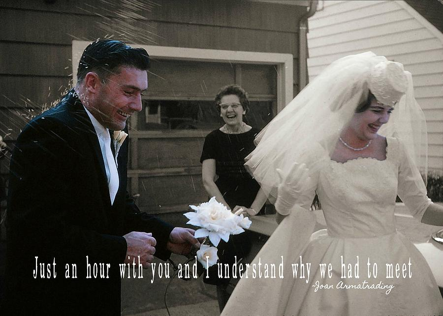 Vintage Photograph - Just Married Quote by JAMART Photography
