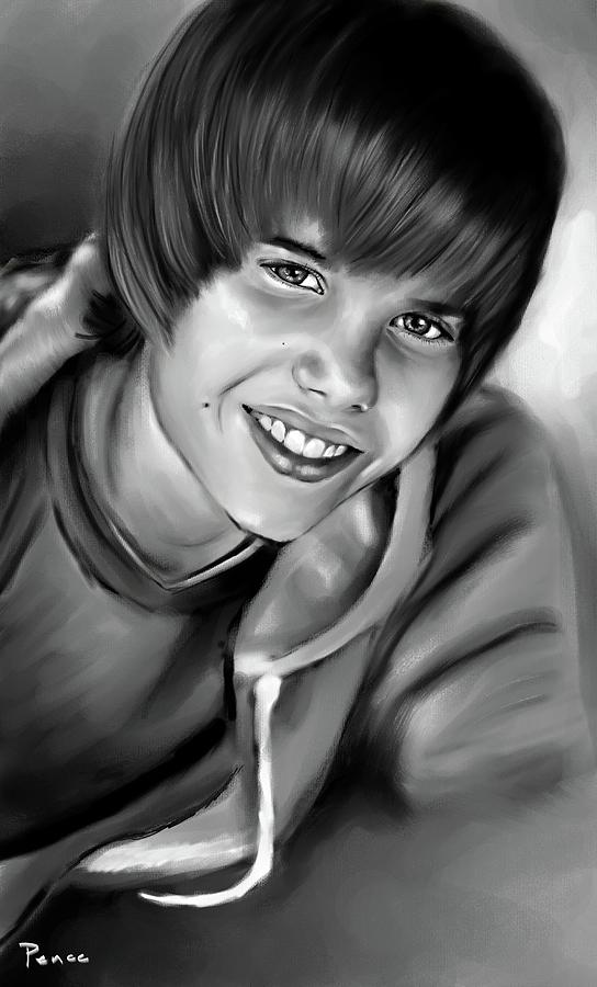 Justin Bieber Painting - Justin by Lisa Pence