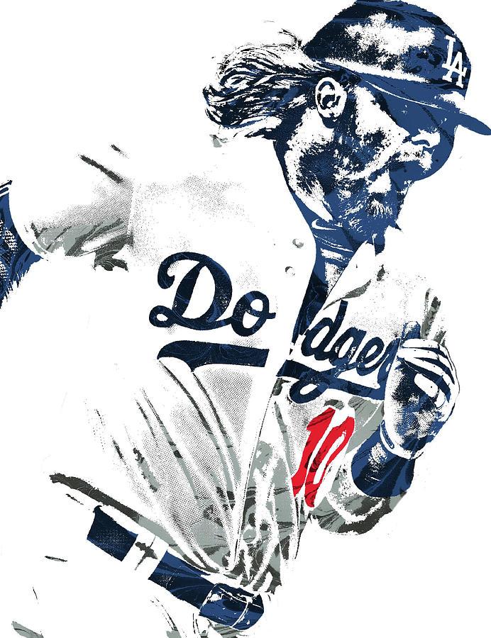 Dodgers Mixed Media - Justin Turner Los Angeles Dodgers Pixel Art by Joe Hamilton