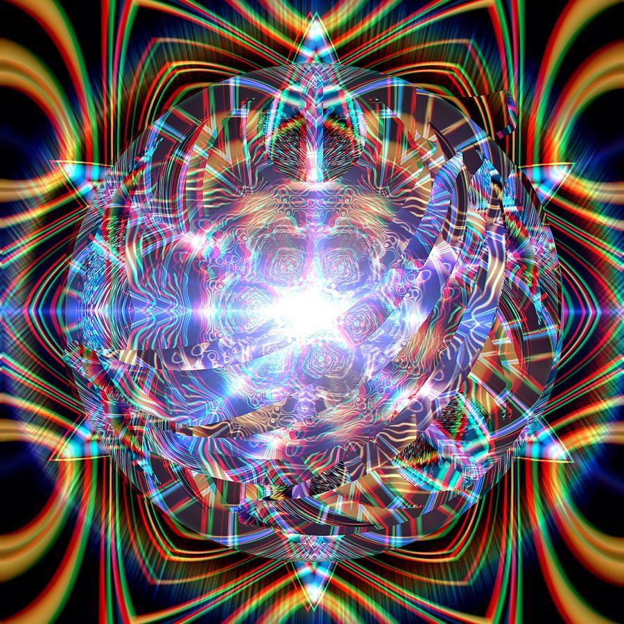 Mandala Digital Art - Jyoti Ahau by Robert Thalmeier