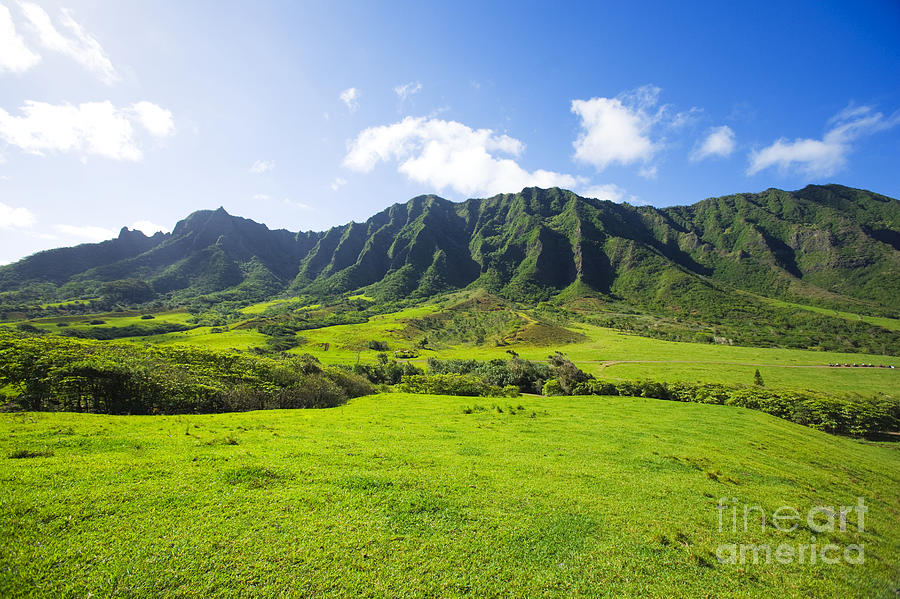 Beautiful Photograph - Kaaawa Valley And Kualoa Ranch by Dana Edmunds - Printscapes