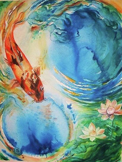 Kahu Koi Painting by Wendy Wiese