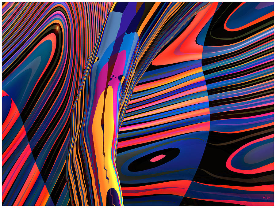 Kaleido-fa-callig. 10x11m37 Wide 11i Digital Art by Terry Anderson