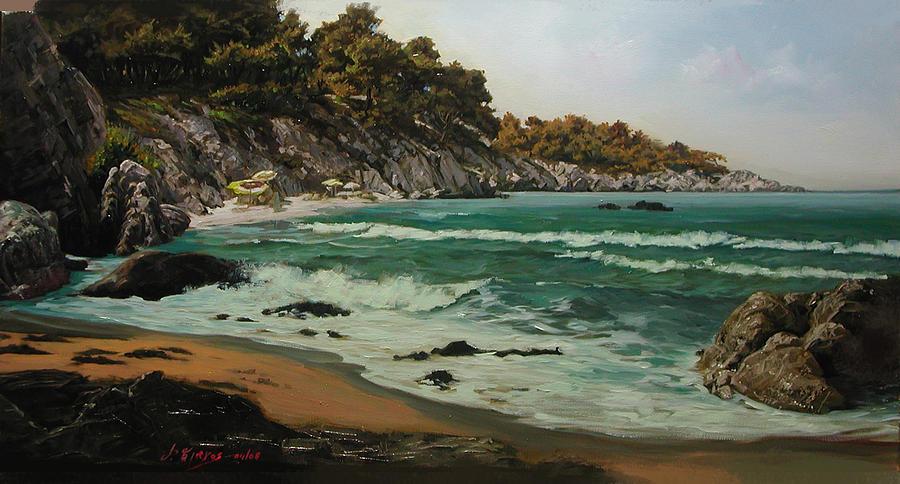 Sea Painting - Kavourotrypes by Demetrios Vlachos