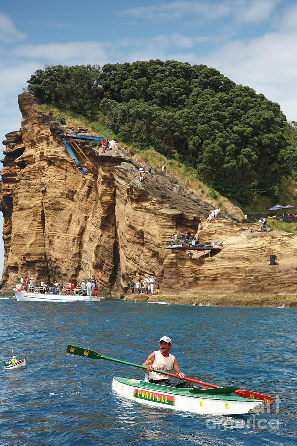 Leisure Photograph - Kayaking In Azores 1 by Gaspar Avila