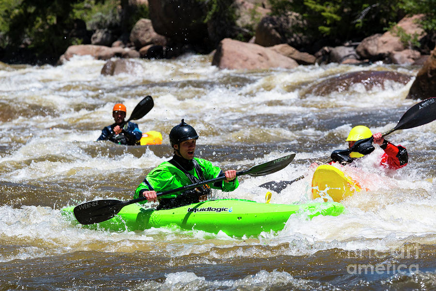 Kayaking The Numbers Photograph