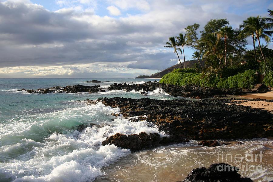 Aloha Photograph - Ke Lei Mai La O Paako Oneloa Puu Olai Makena Maui Hawaii by Sharon Mau