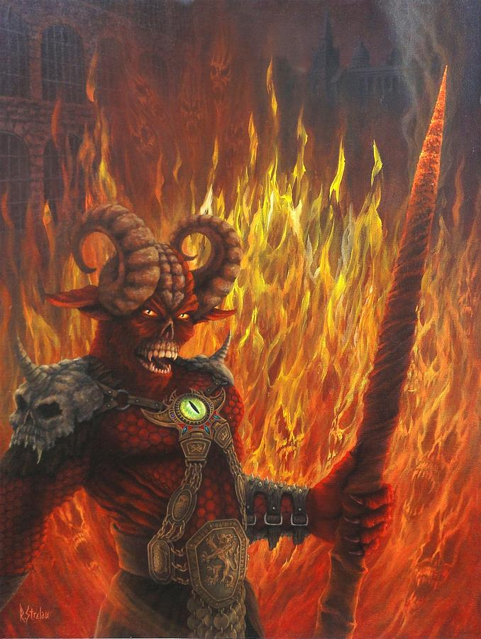 Hell Painting - Keeper Of The Peace by Rodrick Strelau