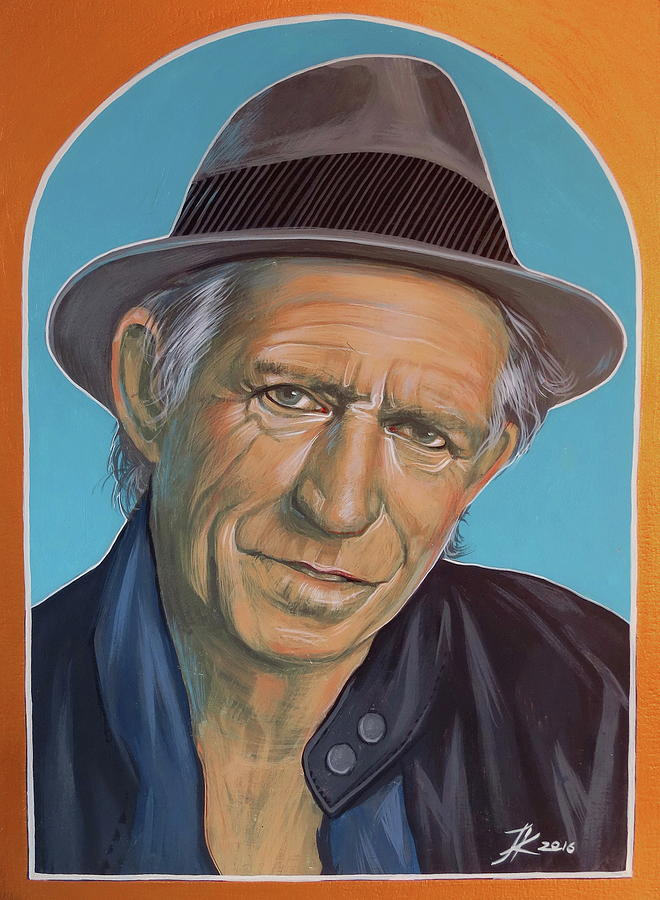 Keith Richards Painting - Keith Richards  by Jovana Kolic