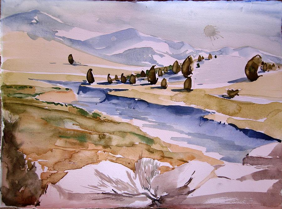 Kennedy Meadows Half In Winter Painting by Amy Bernays