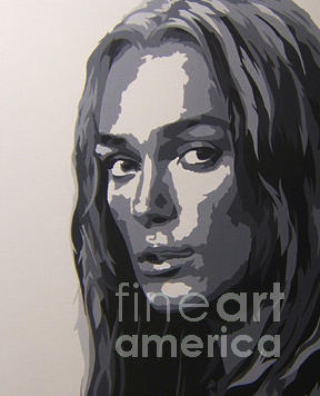 Kera Knightly Painting by Michael James Toomy
