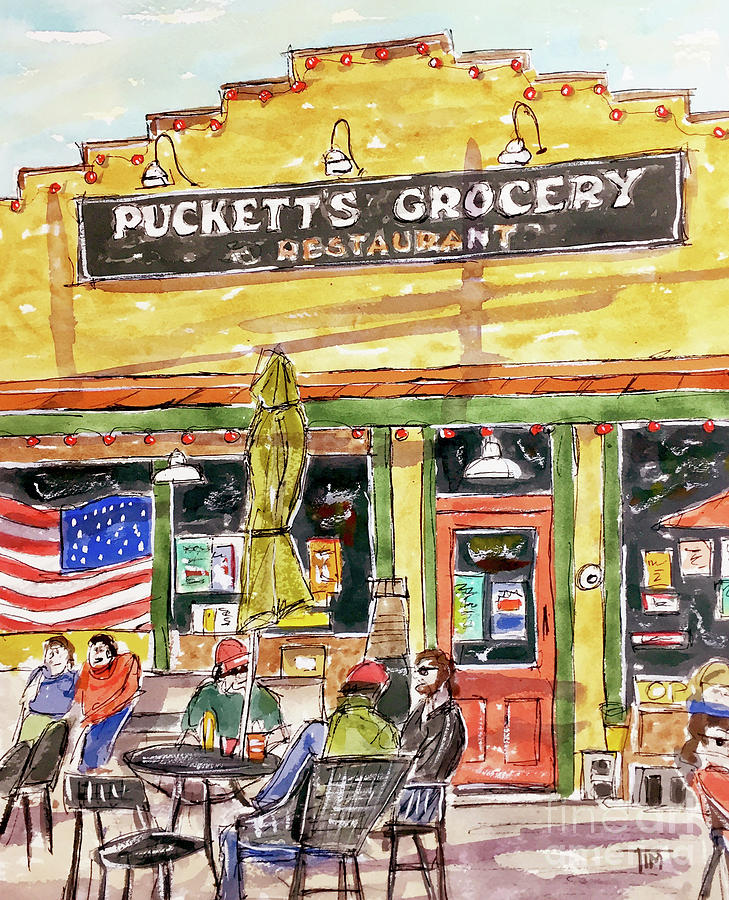 Leipers Fork Painting - Kickin Back by Tim Ross