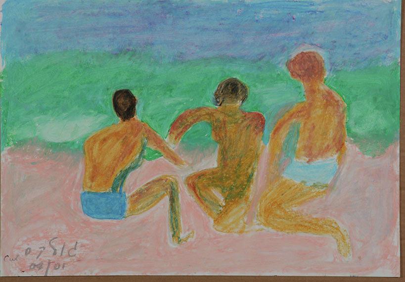 Kids at the Beach by Harris Gulko
