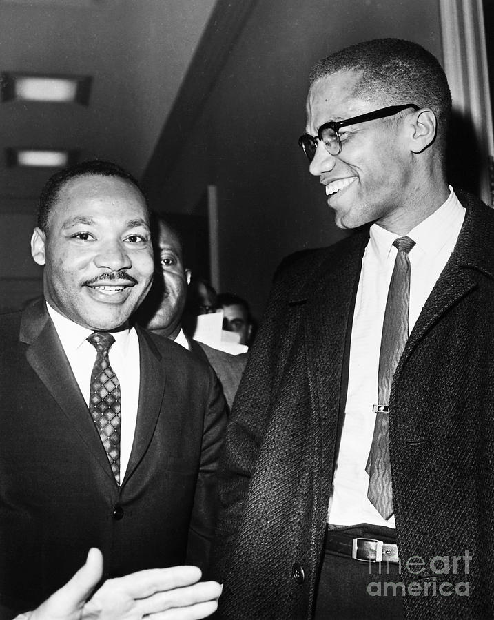 1964 Photograph - King And Malcolm X, 1964 1 by Granger