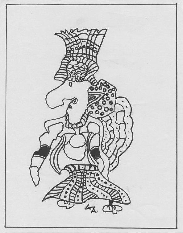 Drawing - King by Gaurav Agrawal