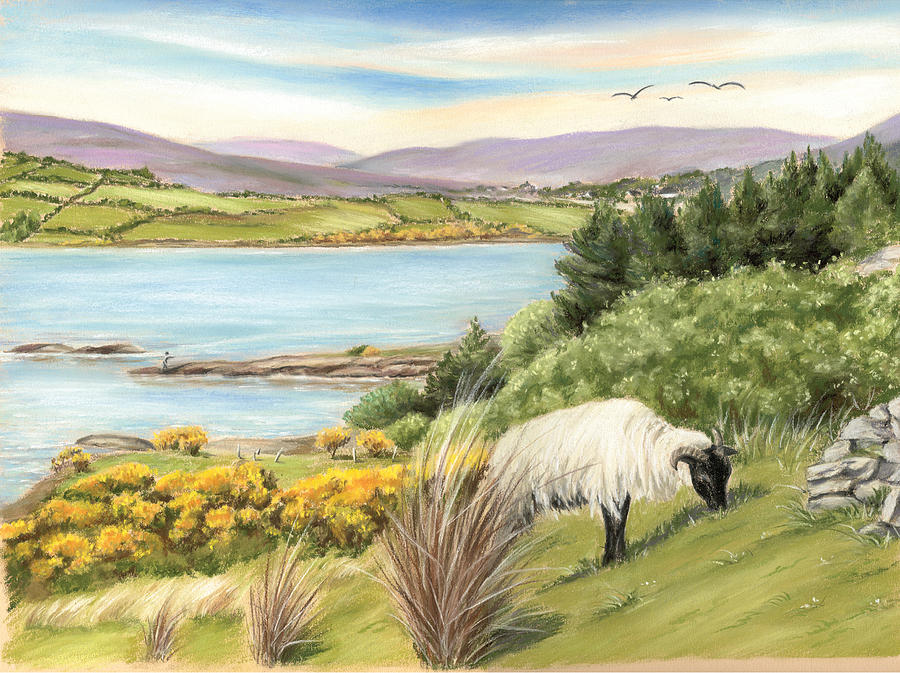 Lough Corrib Painting - King Of The Hill by Vanda Luddy