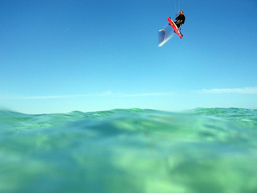 Adventure Photograph - Kitesurfing by Stelios Kleanthous