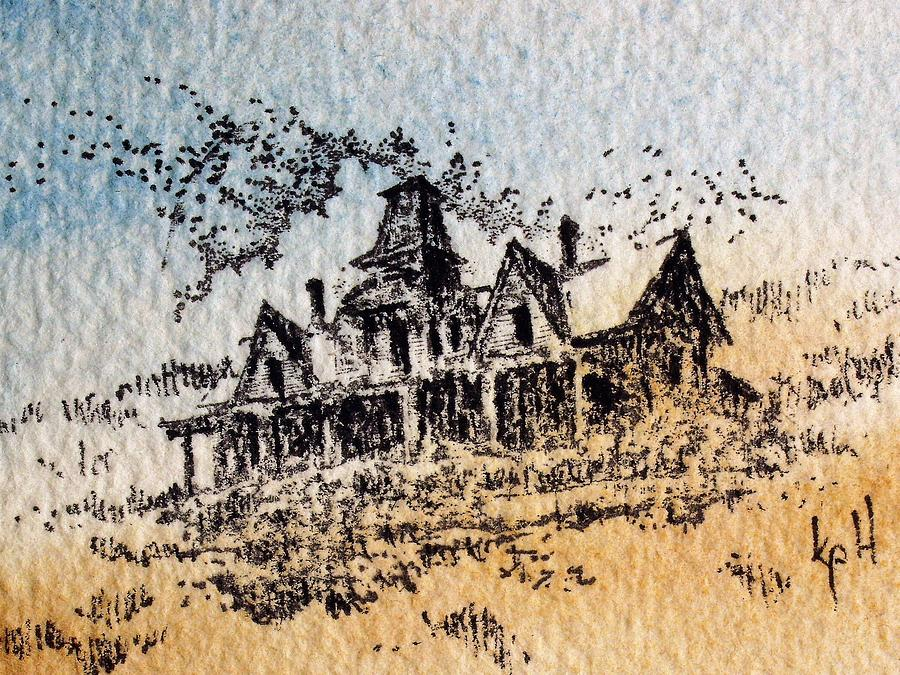 Ghost Town Mixed Media - Knippenberg Mansion Glendale Ghost Town Montana by Kevin Heaney