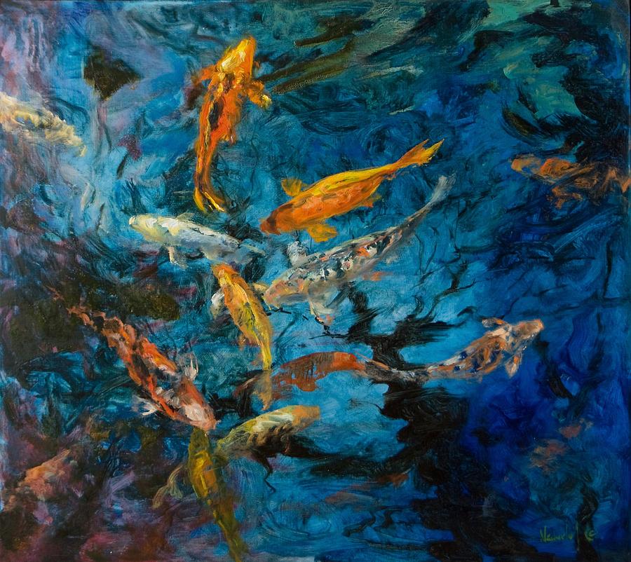 Marine Painting - Koi  by Rick Nederlof