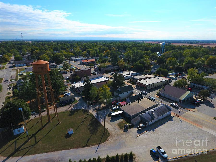 Amazing Photograph - Kouts Indiana by Timeless Aerial Photography LLC