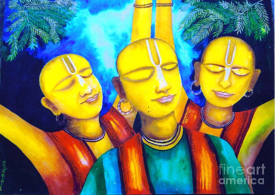 Spiritual Painting - Krishna Conciousness by Pkr